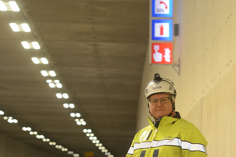 The tunnels in Lahti are full of technology – including Exilight's luminaires